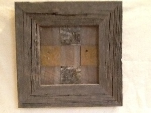 Framed Quilted Barnwood Square with Lychen-Nathan Andersen-15 1/4in x 15 1/4in-$30.00-item #NA2