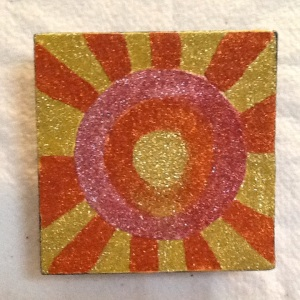 Be the Sunshine-Cheriann Reeves-Mixed Media on Wood-5 1/2in x 5 1/2in-$15.00