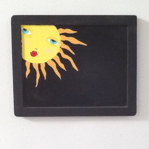 Sunshine Magnet Chalkboard-Cheriann Reeves-Mixed Media on Chalkboard-8 1/2in x 10 1/2in-$12.00