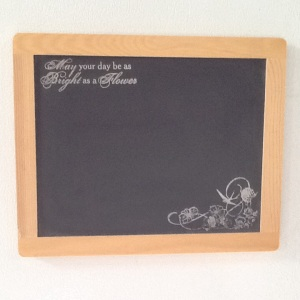 Bright as Flowers Magnet Chalkboard-Cheriann Reeves-Mixed Media on Chalkboard-8 1/2in x 10 1/2in-$12.00