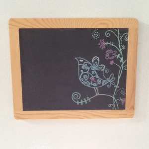 Bird on magnet Chalkboard-Cheriann Reeves-Mixed Media on Chalkboard-8 1/2in x 10 1/2in-$12.00