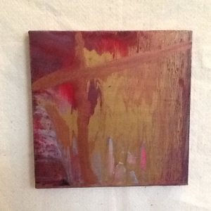 Abstract with Cross-Cheriann Reeves-Mixed Media on Canvas-10in x 10in-$20.00