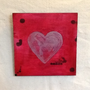Heart-Cheriann Reeves-Mixed Media on Wood-11 1/4in x 11 1/4in-$35.00