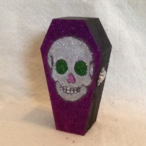Skull Coffin Box-Cheriann Reeves-Mixed Media onWood Box-5in x 2 2/3in-$15.00