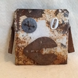 Metal Head-Cheriann Reevess-reclaimed Metal-4 3/4in x 5 1/2in-$25.00