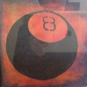 Magic Eight Ball-George Reevess-Mixed Media on Paper-$20.00 unframed