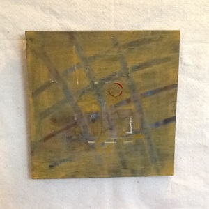 Grid-George Reeves-Mixed Media on Wood-11 1/4in x 11 1/4in-$40.00
