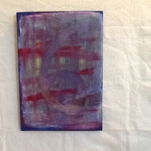 Six with Grid-George Reeves-Mixed Media on Wood-16in x 11 1/4 in-$45.00