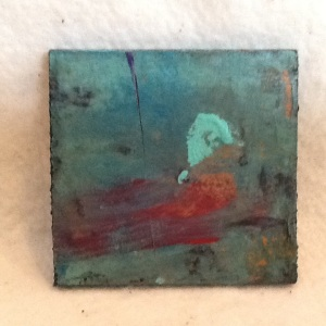 Abstract Magnet-George Reeves-Mixed Media on Wood-3 3/4in x 3 3/4in-$10.00-item #NR7