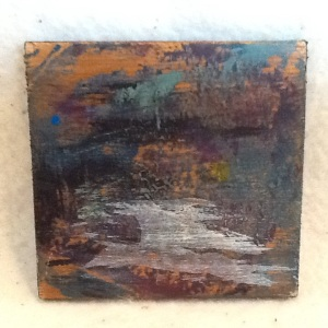 Abstract Magnet-George Reeves-Mixed Media on Wood-3 3/4in x 3 3/4in-$10.00-item #NR4