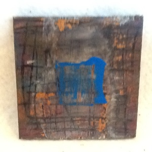 Abstract Magnet-George Reeves-Mixed Media on Wood-3 3/4i x 3 3/4in-$10.00-item #NR16