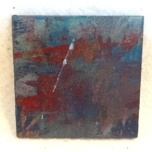 Abstract Magnet-George Reeves-Mixed Media on Wood-3 3/4in x 3 3/4in-$10.00-item #NR13