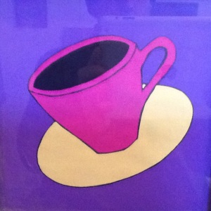 Magenta Cup-George Reeves-Mixed Media on Paper-8in x 8in-$20.00 unframed