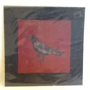 Crow-George Reeves-Mixed Media on Paper-8in x 8in-$20.00 unframed