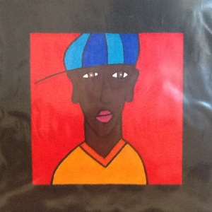 Boy with Cap-George Reeves-Mixed Media on Paper8in x 8in-$20.00 unframed