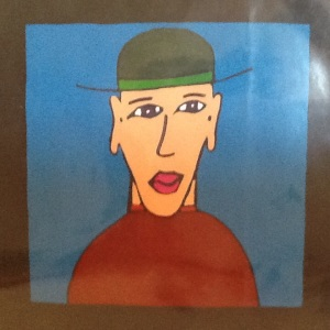 Man with Hat-George Reeves-Mixed Media on Paper-8i x 8in-$20.00 unframed