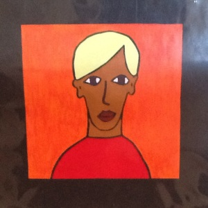Blond Boy-George Reeves-Mixed Media on Paper-8in x 8in-$20.00 unframed