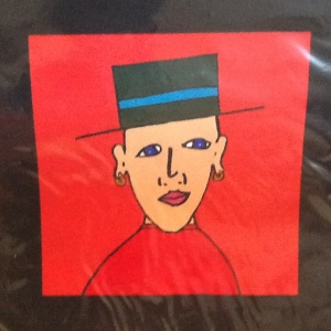 Man with Bowler Hat-George Reeves-Mixed Media on Paper-8in x 8in-$20.00 unframed