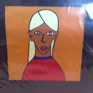 Blond Girl-George Reeves-Mixed Media on Paper-8in 8in-$20.00 unframed