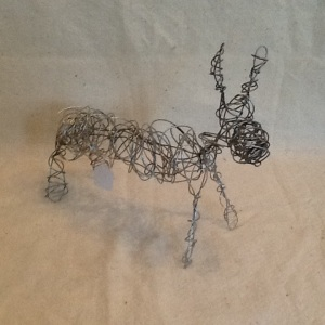 Moose-George Reeves-One Wire Sculpture-1in 13in-$20.00