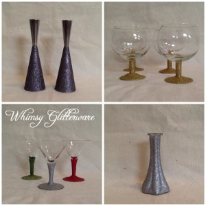Add some sparkle to your life with Whimsy Glitterware. Created exclusively for Garden Gallery, this elegant glassware will be the finishing touch to any special meal or occasion. Custom orders are available, contact us for details.