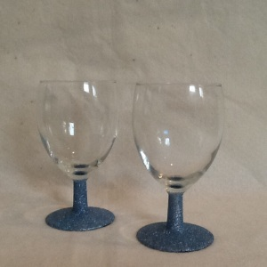 2 Pewter Glitter Champagne Bowls-4 3/4in tall-$14.00