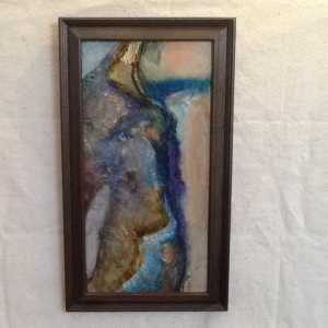 Figure-Pam Grant-Acrylic & Collage on Panel-18 1/2in x 10 1/2in-$110.00