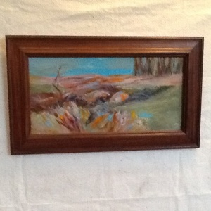Along Hwy 95-Pam Grant-Acrylic on Panel-12 3/4in x 21 3/4in-$130.00