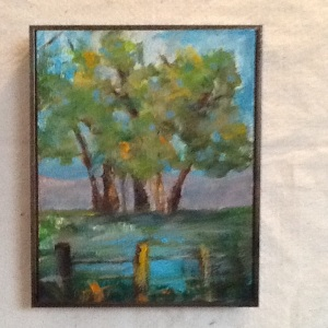 Trees-Pam Grant-Acrylic on Canvas-10 1/4in x 8 1/4in-$60.00