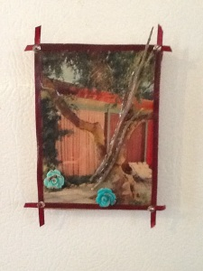 Patio Flower-Kimi Boylan-Mixed Media on Panel w/Magnets-4 1/2in x 3in-$12.50