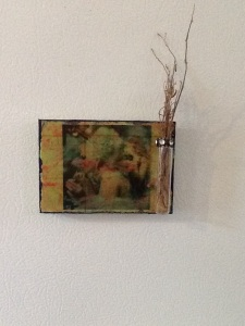 Hideb Beauty with Bottle-Kimi Boylan-Mixed Media on Panel w/Magnets-5 1/2in x 3 1/2in-$12.50