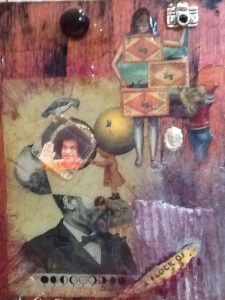 Andre was Giant-Kimi Boylan-mixed media on Panel-10 1/2in x 5in-$20.00