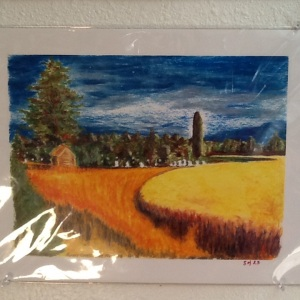 Eastern Oregon Landscape-Jill Miller-Limited Print-9in x 12in Image-$40.00