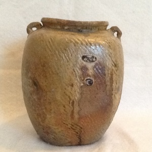 Vase-George Gledhill-Wood Fire Stoneware-7 1/2in x 6in-$75.00-item #GG4