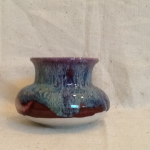 Vase-George Gledhill-Gas Fire Stoneware-4 3/4in x 7in-$55.00-item #GG37